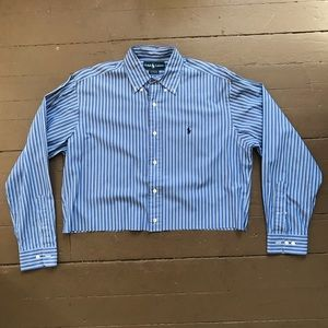 Vintage cropped Polo striped button up